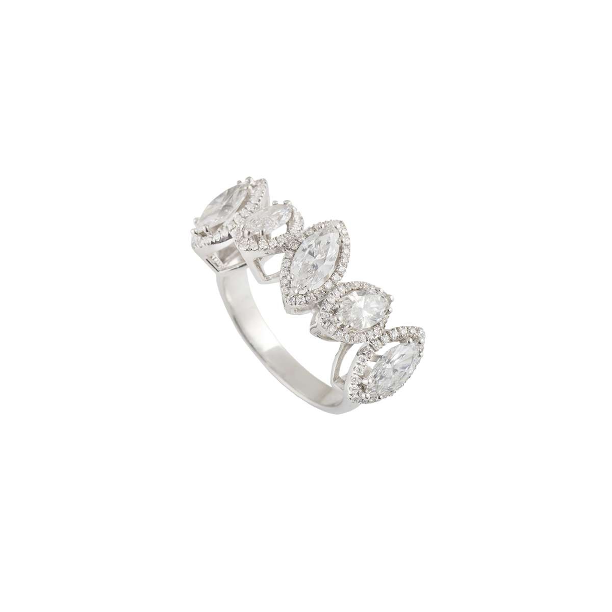 White Gold Marquise Diamond Ring 3.10ct G/VS